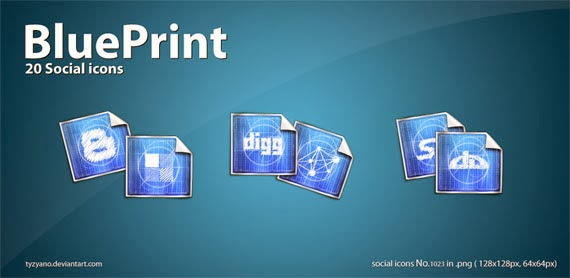 BluePrint 20 Social Icons