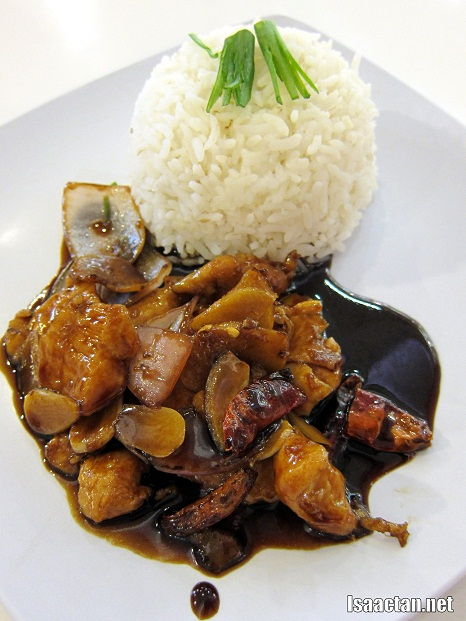 #1 Kung Po Chicken Rice (half portion serving in picture) - RM7.80