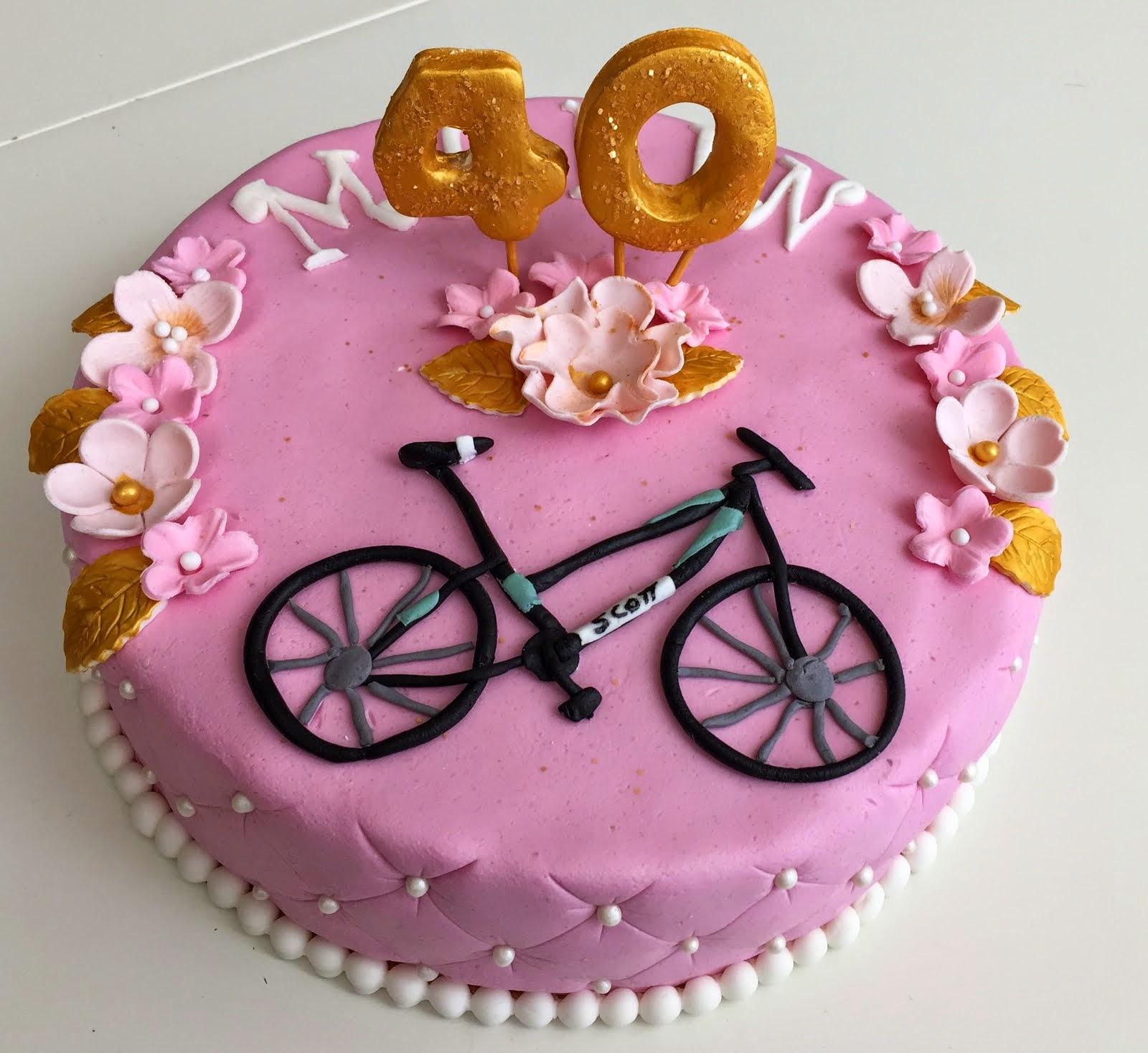 40års tårta med cykel