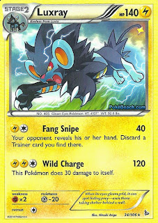 Luxray Flashfire Pokemon Card