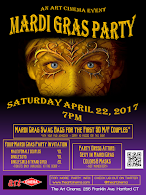 The Next Art Cinema Event in Hartford, CT! Mardi Gras Party!