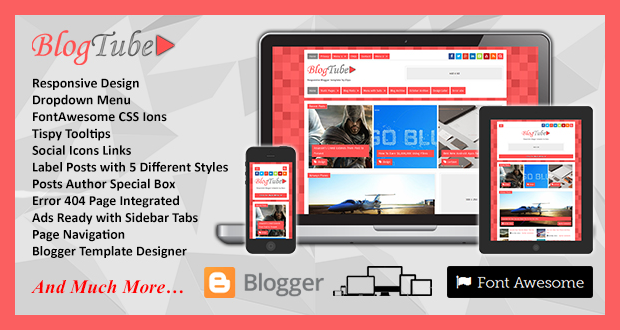 BlogTube Responsive Blogger Template videos Pro