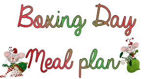 boxing day meal plan