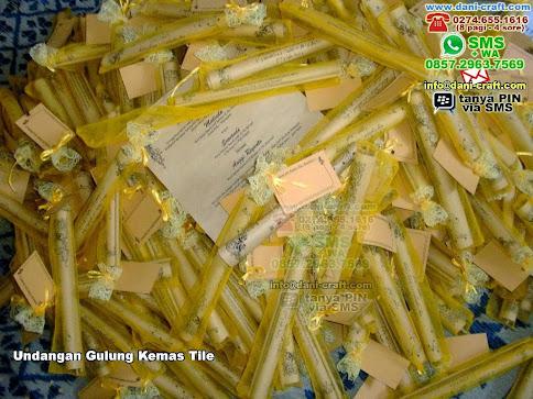 Undangan Gulung Kemas Tile Samsontile Banten
