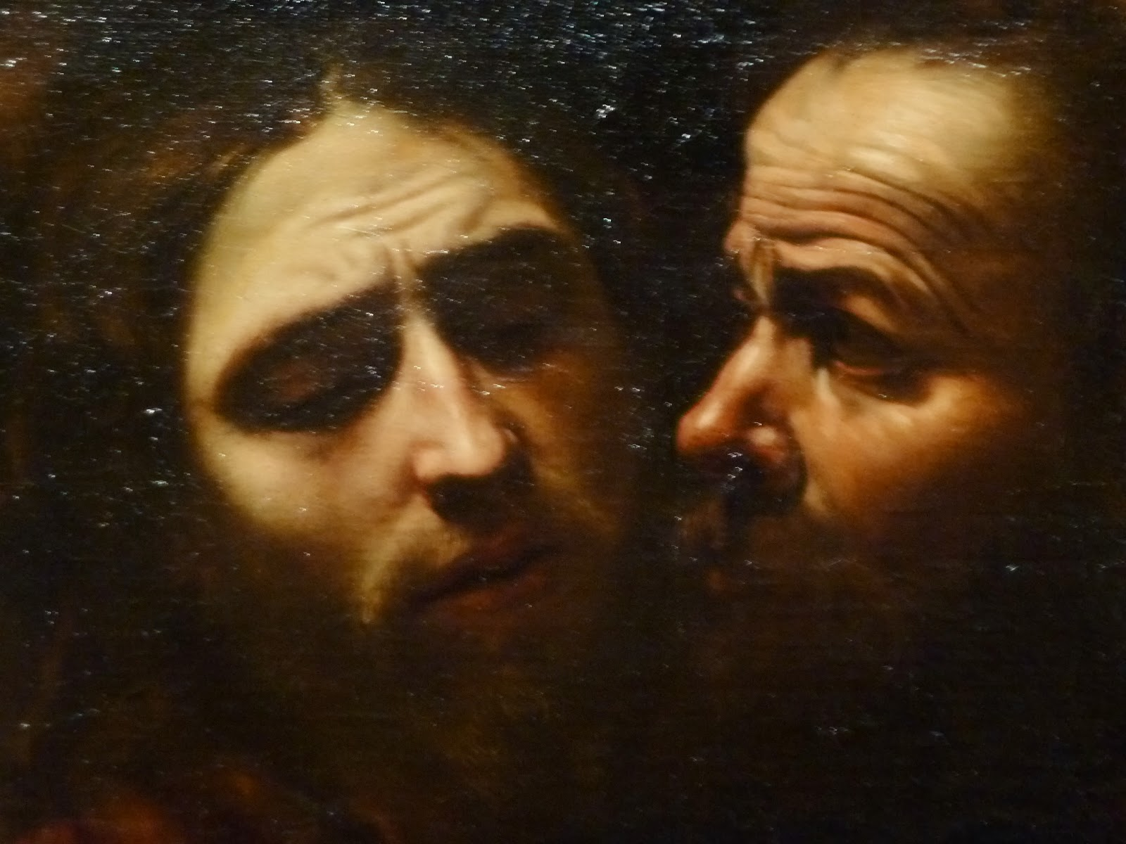 the taking of christ caravaggio The taking of christ, 1602 is an oil on canvas, 1335 x 1695 cm focal area: when i first look at this painting my eye is drawn to the shining armor of the soldier which then immediately drifts along the soldiers armor clad arm to the faces of jesus and judas.