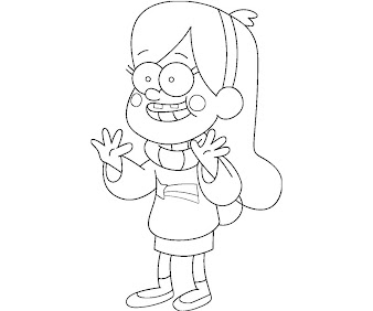 #8 Mabel Pines Coloring Page