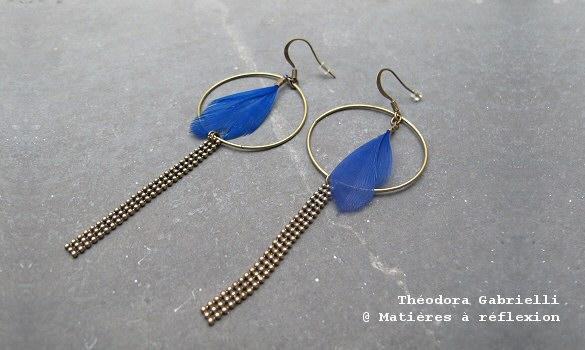 Boucles d'oreillesThéodora Gabrielli bleues