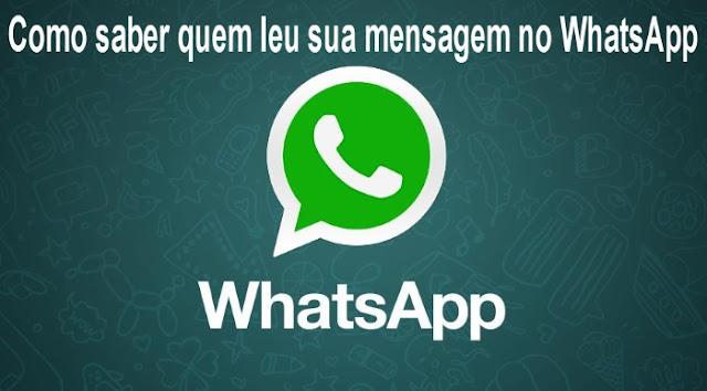 Como saber quem leu sua mensagem no WhatsApp