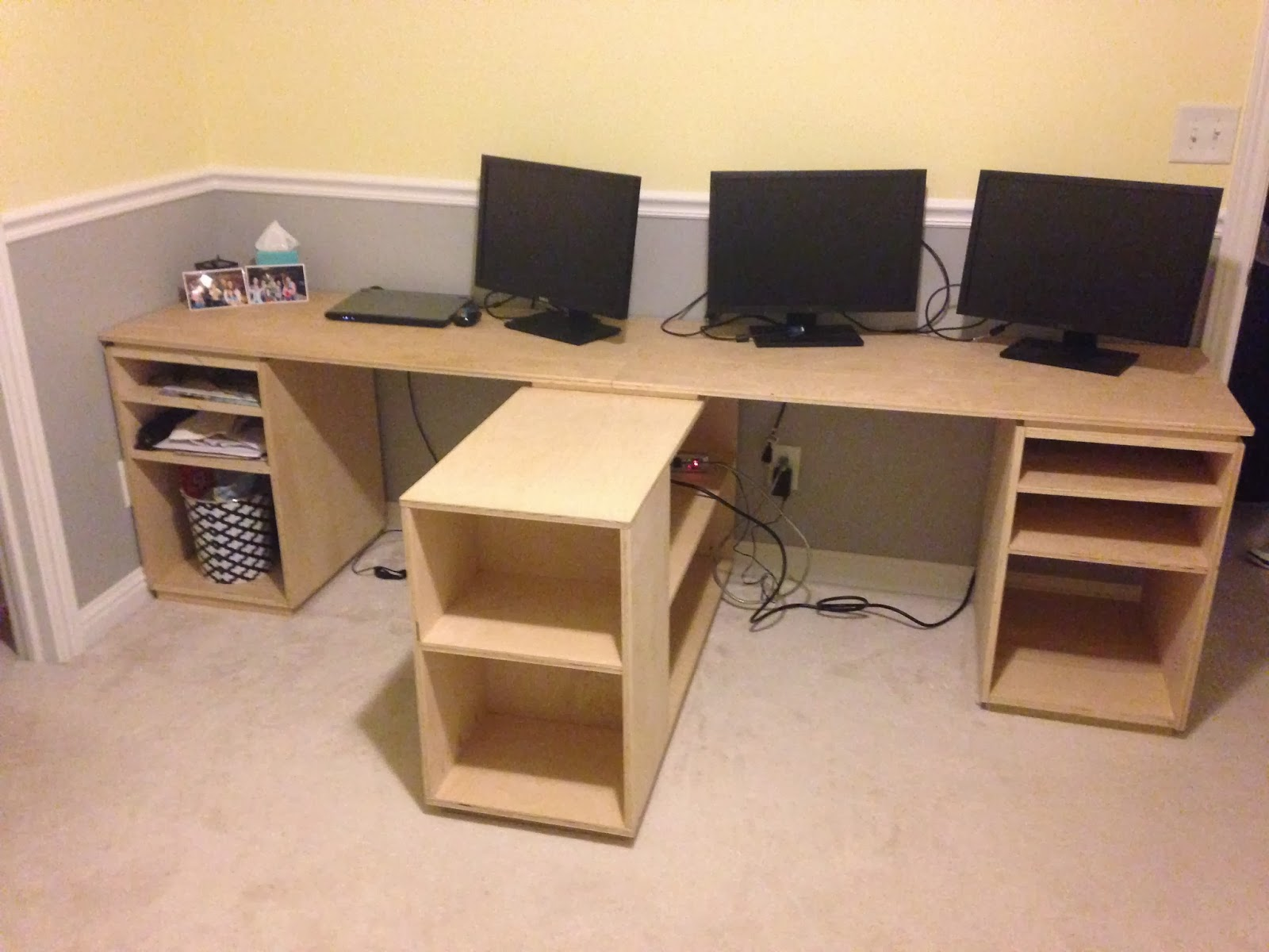 How To Build Office Desk. Home Office Desk Build Finished For Now How To