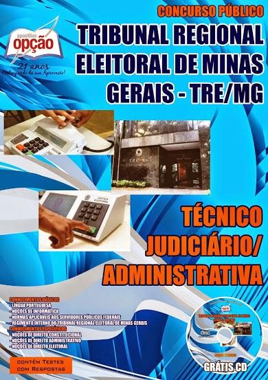 Apostila Especifica Concurso público TRE (MG) - Técnico Judiciário.