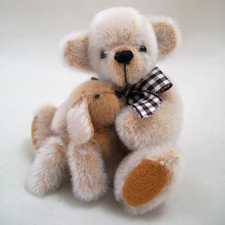 Barnsley and his spaniel puppy Bentley, handmade by Katlyn Traxler