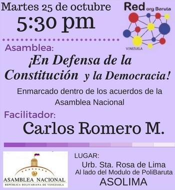 La @RedOrgBaruta invita Asamblea: