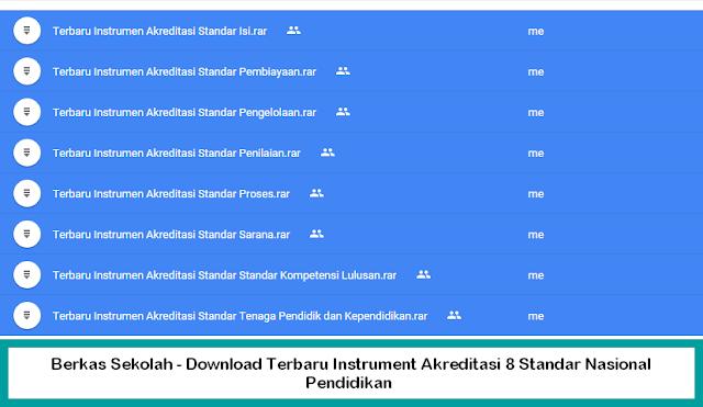 Berkas Sekolah - Download Terbaru Instrument Akreditasi 8 Standar Nasional Pendidikan