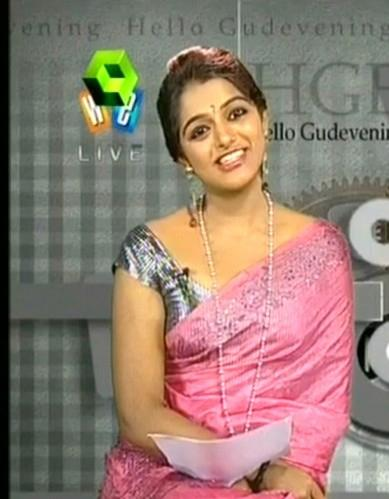 tv anchor meera hot cleavage tummy navel hot hot