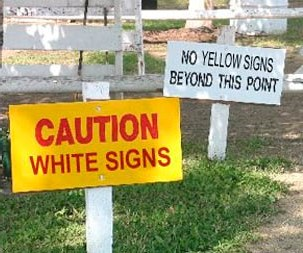 papan tanda bangang kelakar