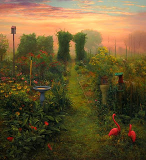 Jardines y Paisajes Pintura al Oleo