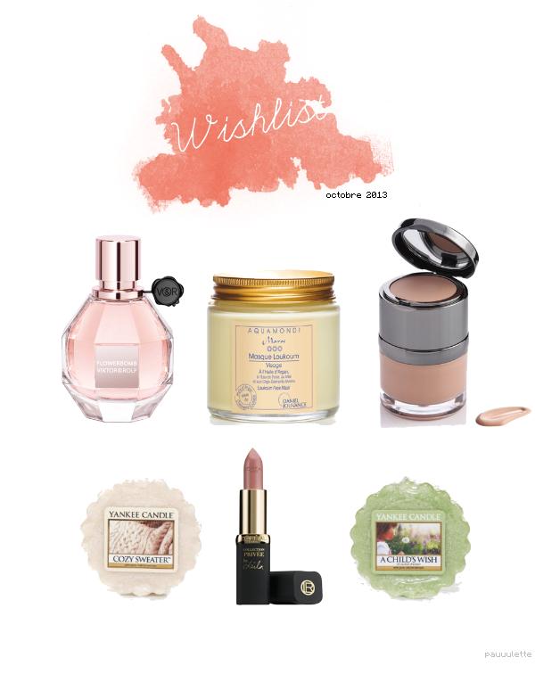 Wishlist - Octobre 2013