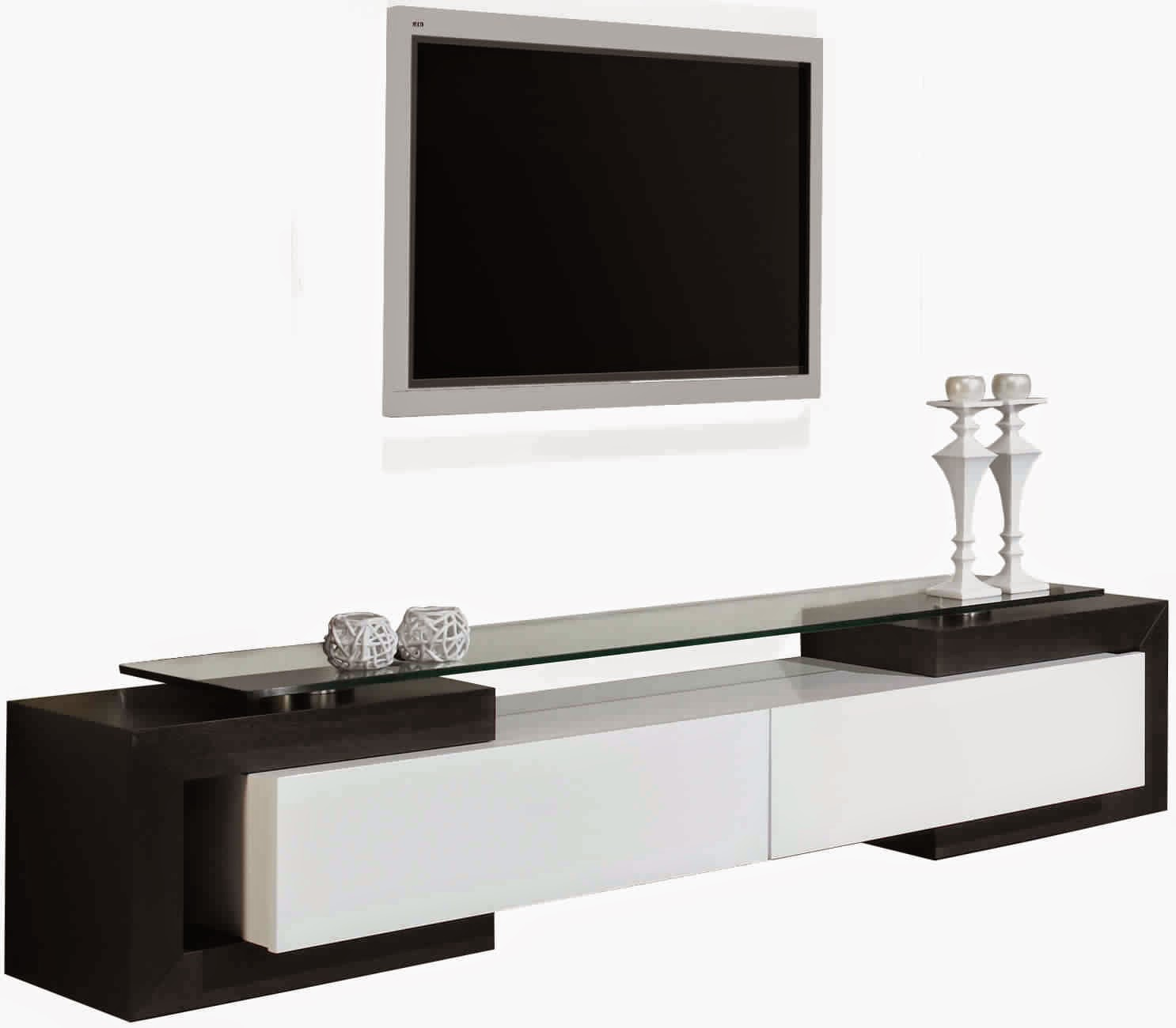 Meuble tv noir et blanc meuble tv for Meuble television blanc