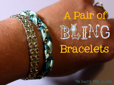A Pair of Bling Bracelet by The Crafty Blog Stalker