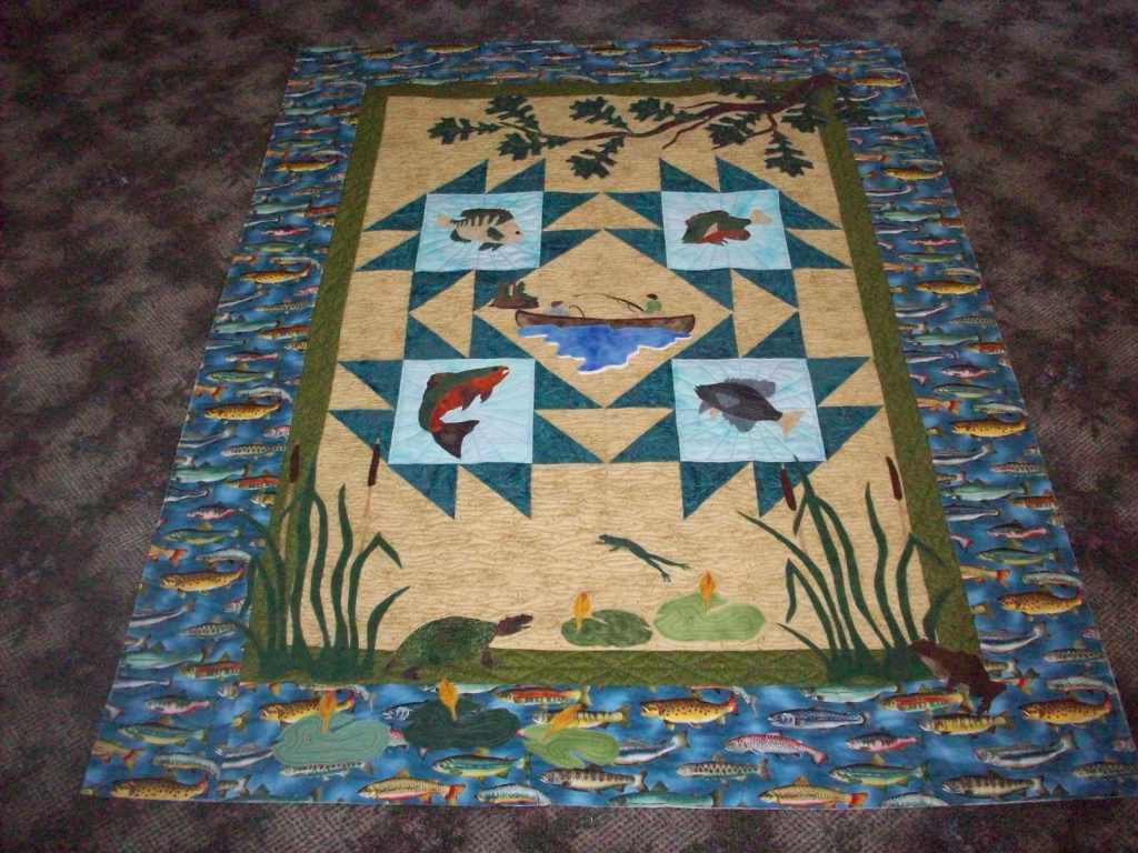 Quilts by Barb - News from Barb: Connie's Fishing Quilt : fishing quilt - Adamdwight.com