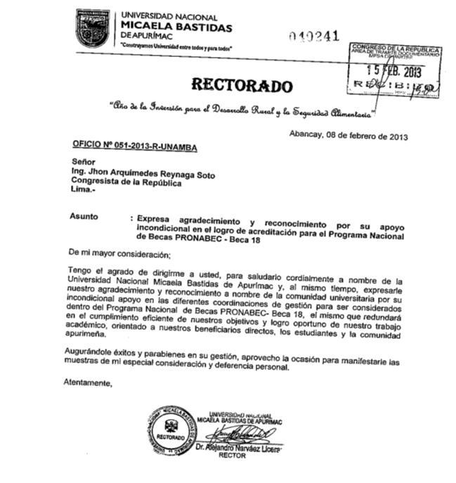 RECTORADO DE LA UNIVERSIDAD NACIONAL MICAELA BASTIDAS DE APURIMAC View ...