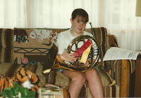 Kelly Jensen playing french horn