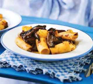 Rigatoni With Mushroom and Red Wine Ragout