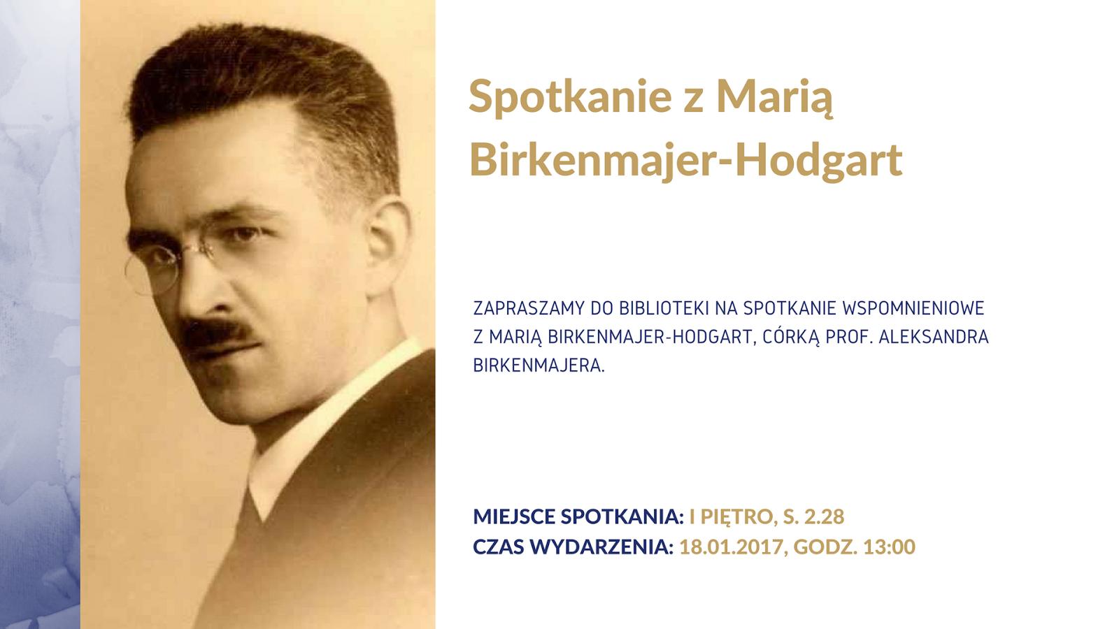 Spotkanie z Marią Birkenmajer-Hodgart