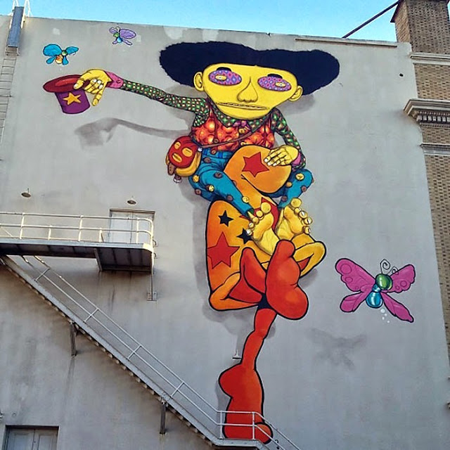 Street Art By Os Gemeos And Mark Bode At The Warfield Theatre In San Francisco. 2