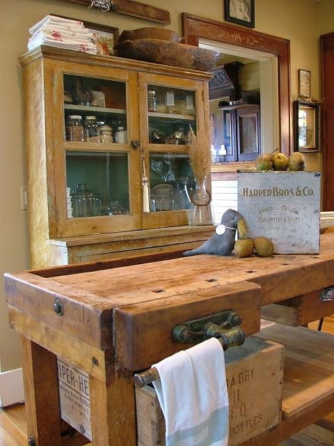 Mesas De Cocina Antiguas - Arquitectura Del Hogar - Serart.net