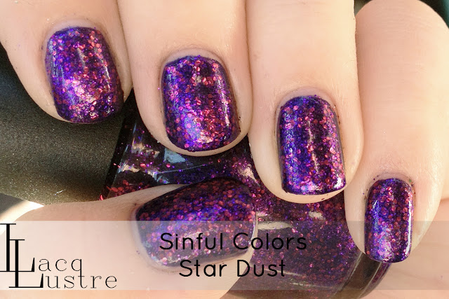 Sinful Colors Star Dust swatch