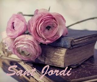 Rosas rosas y libros antiguos