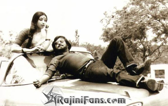 Rajinikanth & Lakshmi in 'Pollathavan' Movie