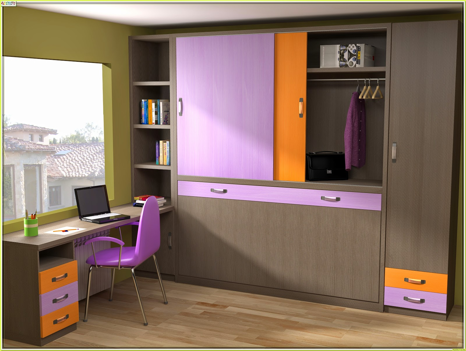 Muebles juveniles dormitorios infantiles y habitaciones - Habitaciones juveniles camas abatibles horizontales ...