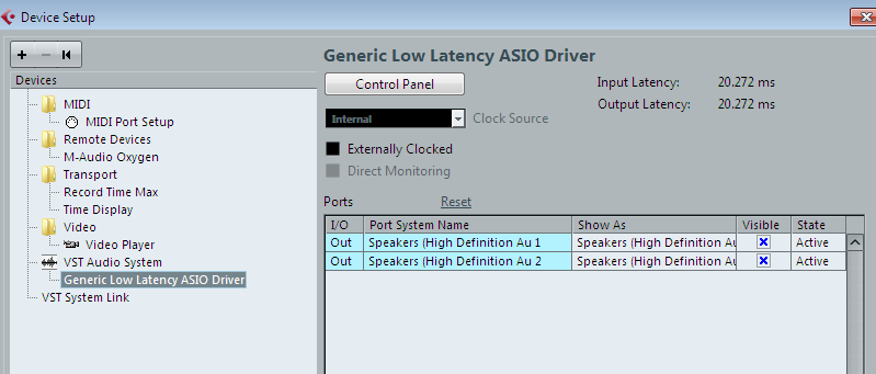 Generic low latency asio driver