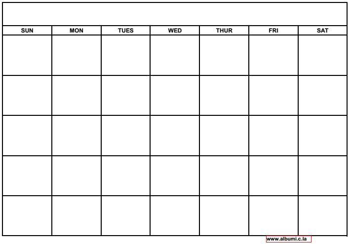10 Blank calendar grid collection 2015 to print | 2016 Blank ...