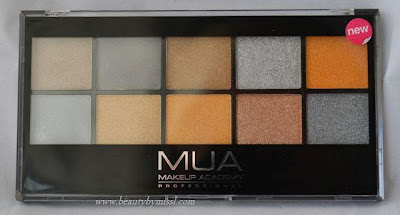 MUA Going for Gold eyeshadow palette