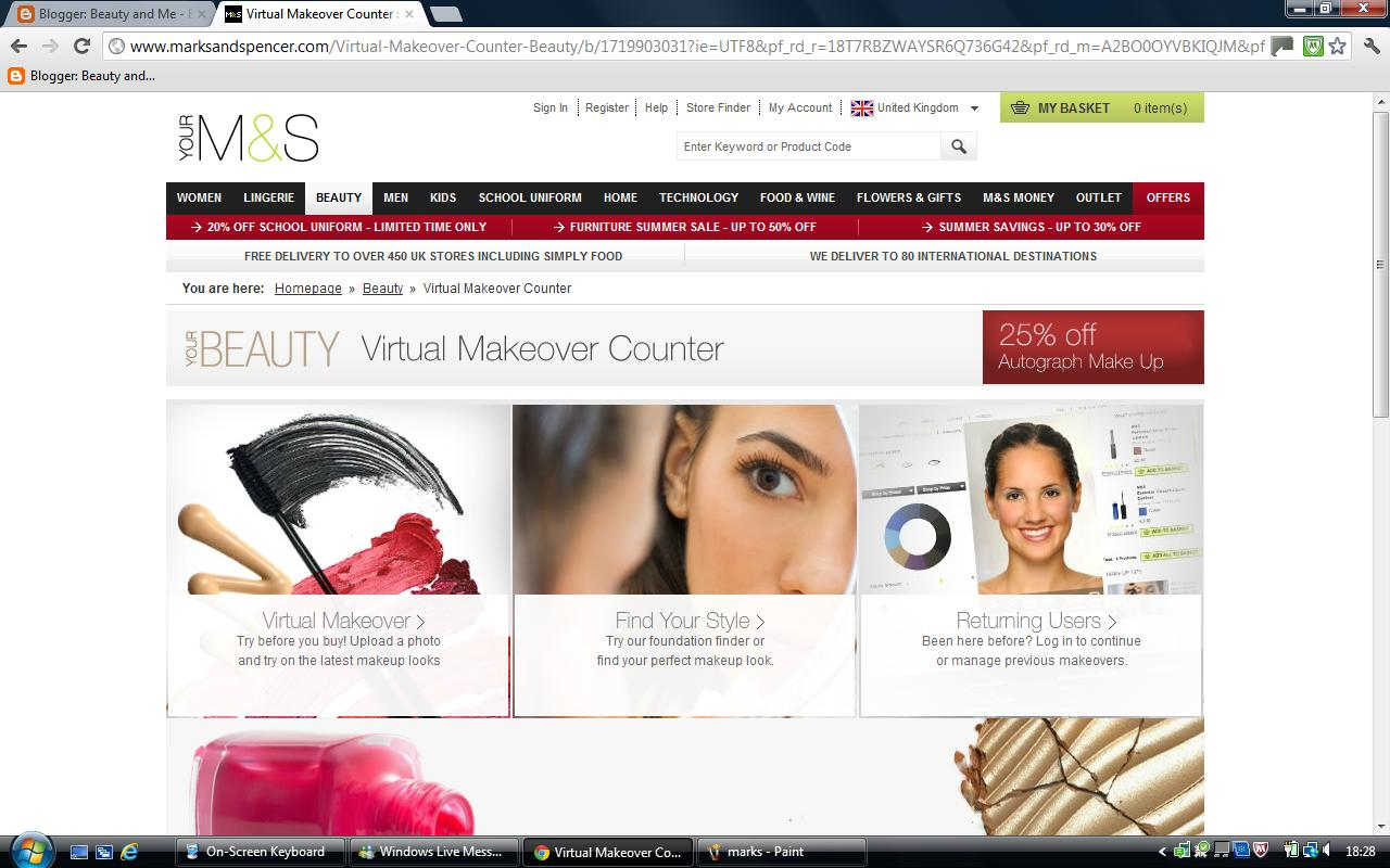Beauty And Me Marks Spencer