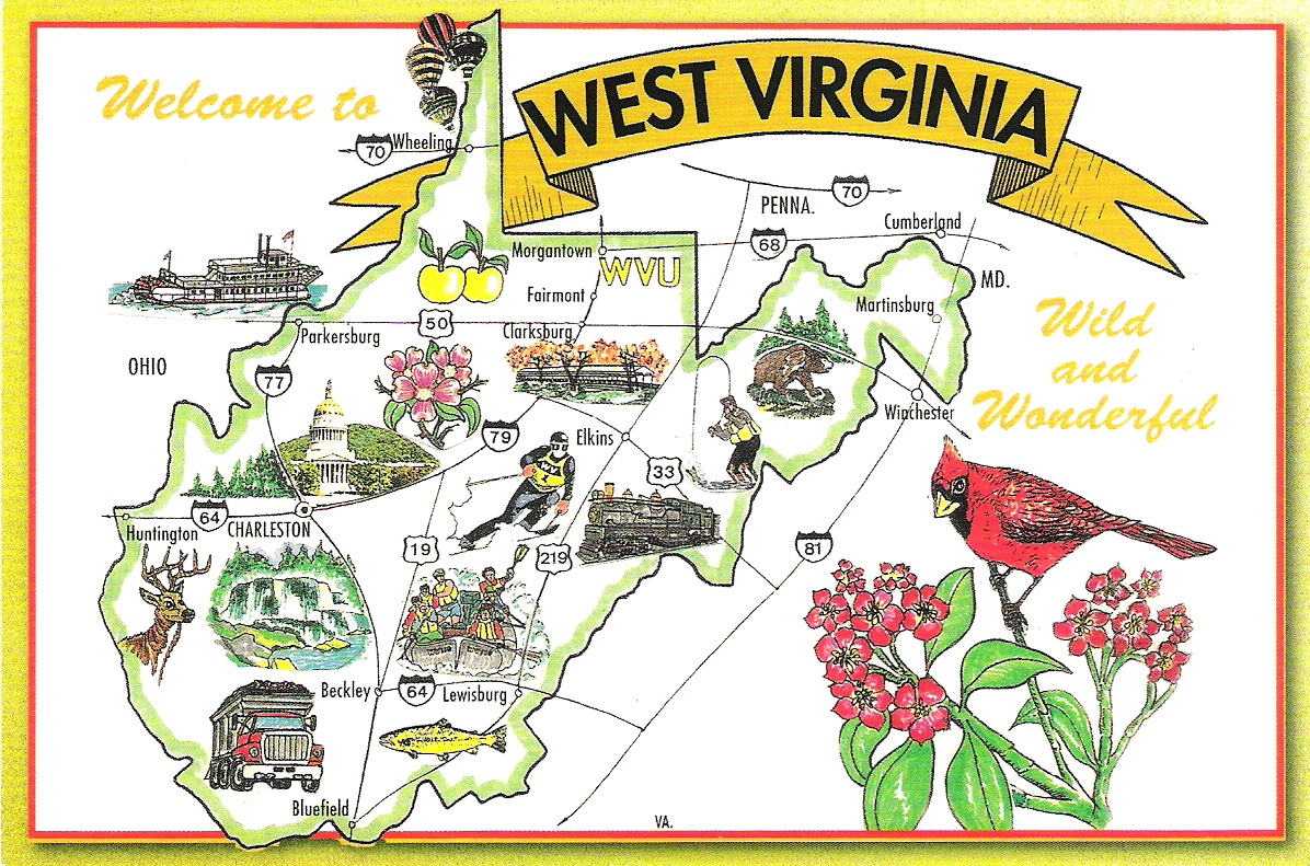 Map Cards  Hunting 0049 0050 0051 USA  West Virginia