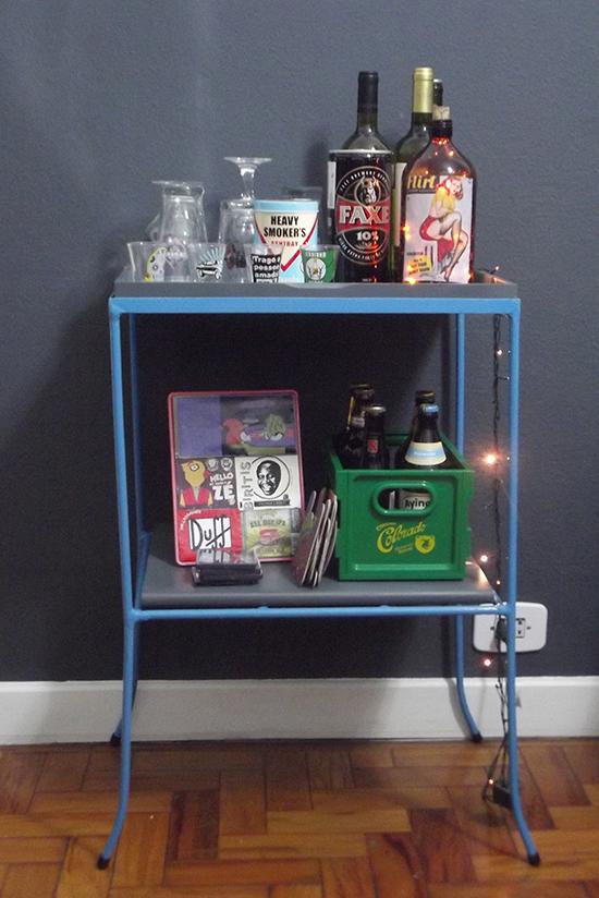 bar na sala, bar, bar cart, carrinho de bar, faça voce mesmo, diy, decoração