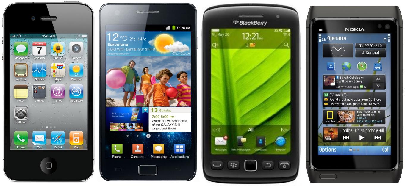 IPHONE VS ANDROID VS BLACKBERRY VS SYMBIAN