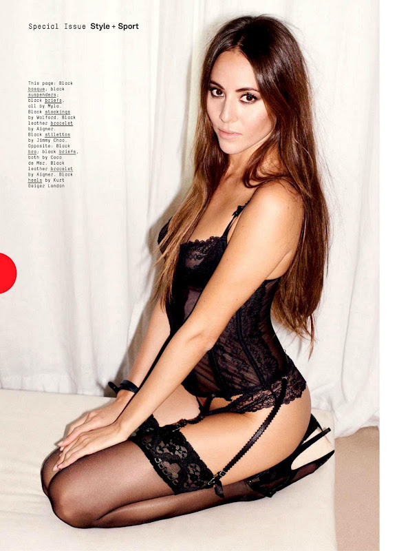 Jessica Michibata Poses in Lingerie for Esquire UK Magazine