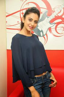 Actress Rakul Preet Singh Pictures in Jeans Gallery at Big FM 13.JPG