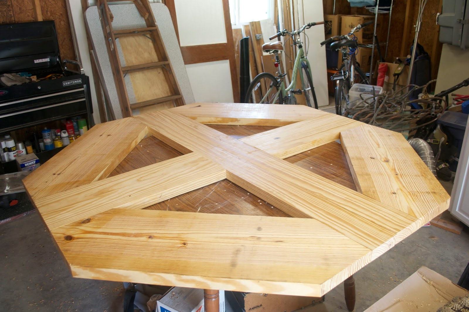 seesaws and sawhorses building a dining room table top
