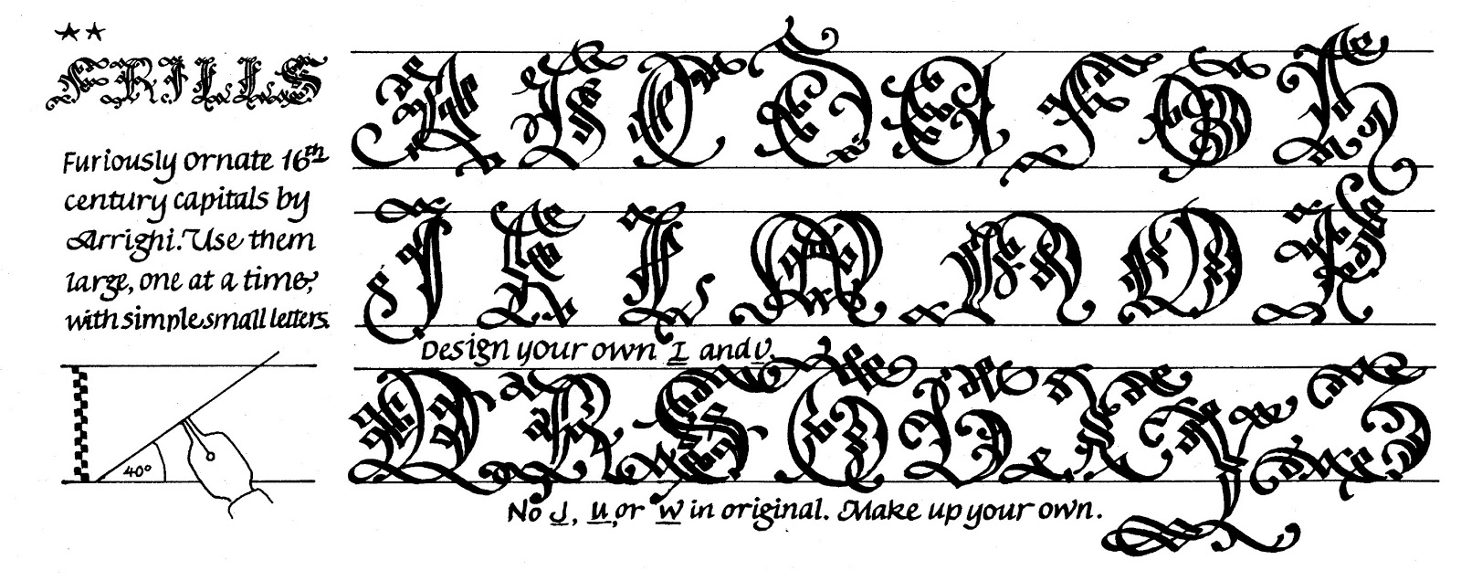 This Illustration Comes From My Book Calligraphy Alphabets Made Easy The Two Asterisks At Upper Left Designate It As A Challenging Style