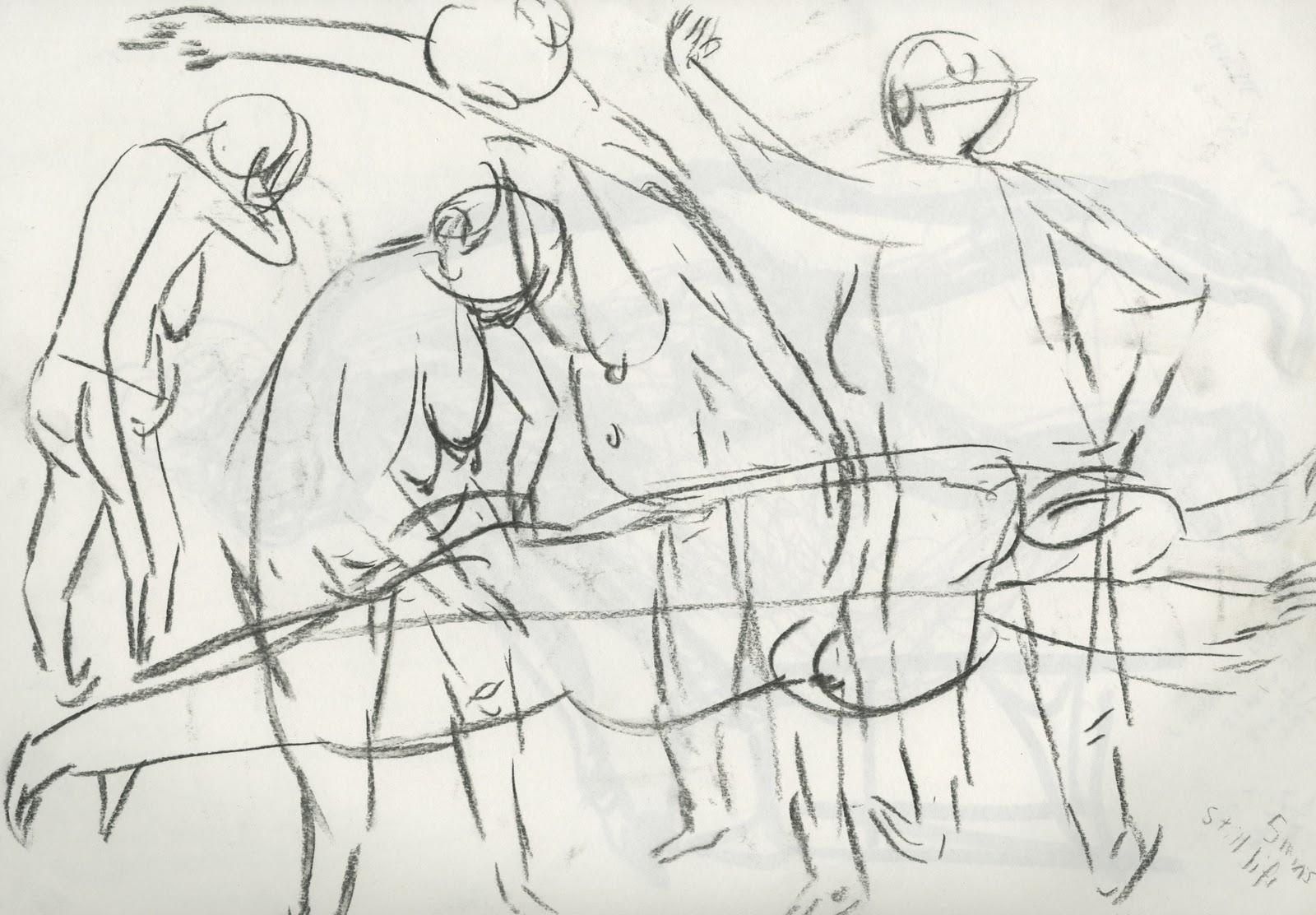 Sarokzana O D Week 9 Life Drawing And Basic Human Anatomy