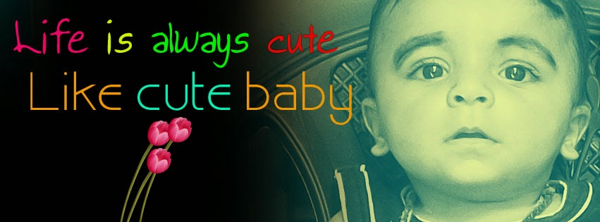 Facebook cover photo of Cute baby