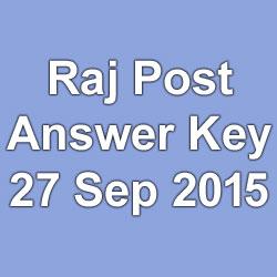 Raj Post Paper Solution 2015