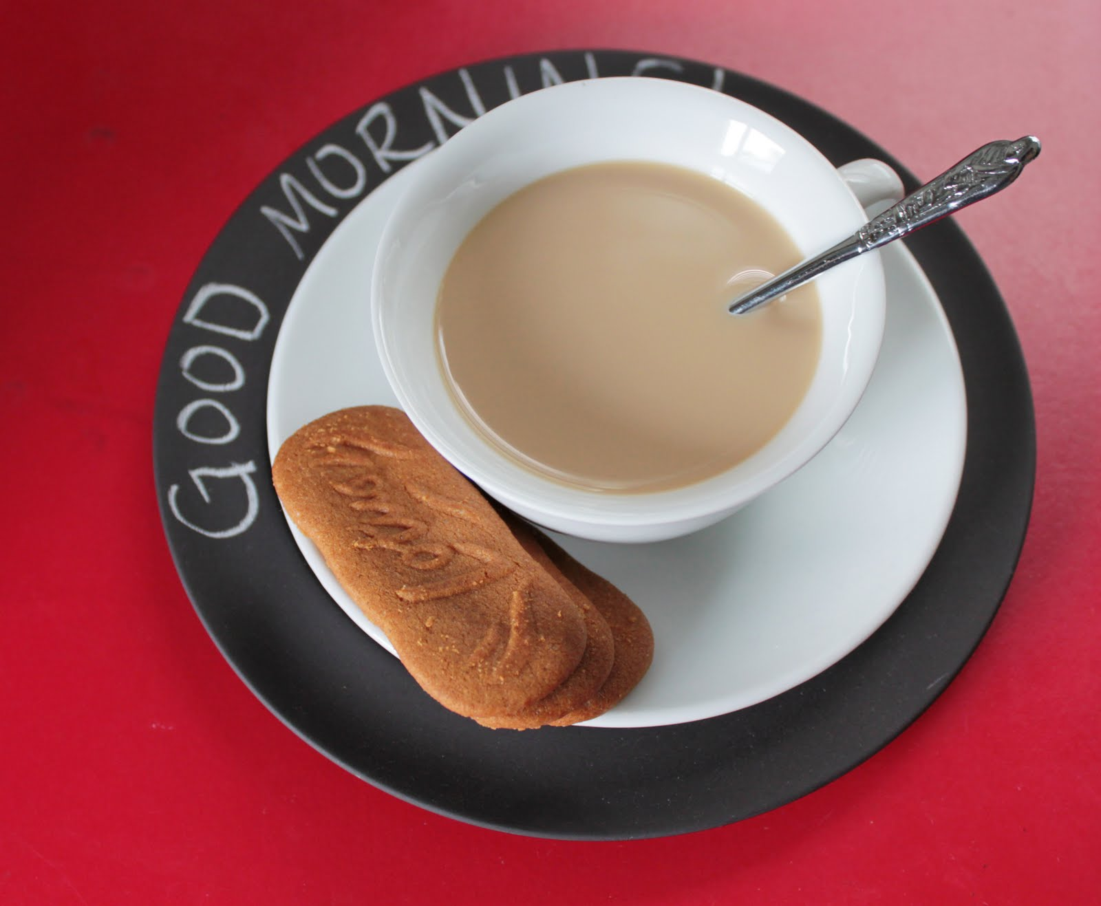 Good morning: coffee and biscoff