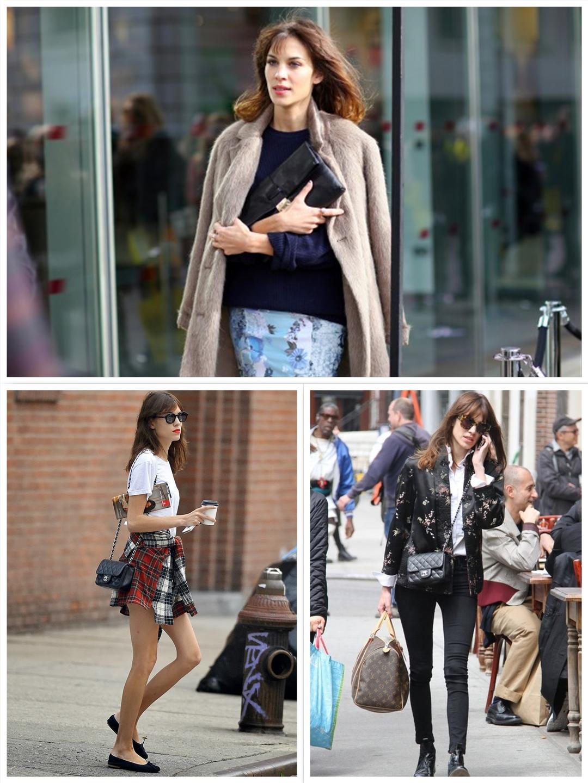 Celebrity Street style Alexa chung